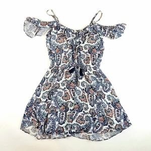 American Eagle Paisley Cold Shoulder Dress Size S